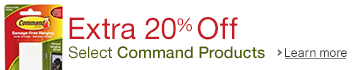Extra 20% Off Select Command Products