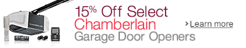 15% Off Select Chamberlain Garage Door Openers