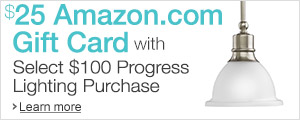 $25 Amazon Gift Card with Select $100 Progress Lighting Purchase