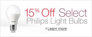 15% Off Select Philips Light Bulbs