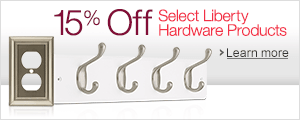 15% Off Select Liberty Hardware Products