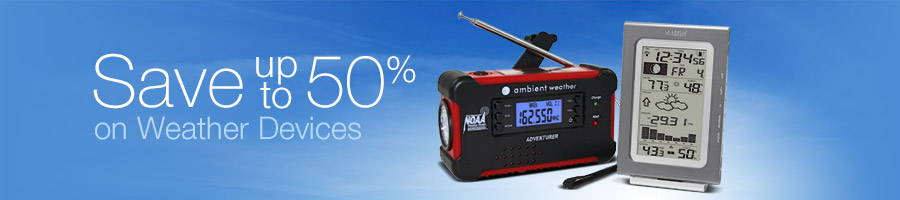 Save up to 50% on Weather Devices