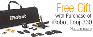 Purchase the iRobot Looj 330 and get a free replenishment kit