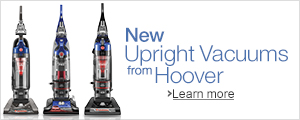 New from Hoover: Upright Vacuums