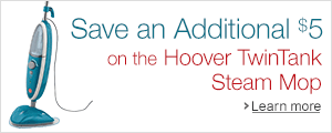 Save an additional $5 on the Hoover Steam Mop