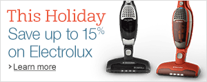 This Holiday, Save up to 15% on Electrolux