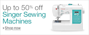 Up to 50% off Singer Sewing Machines