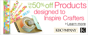 Up to 50% off Products Designed to Inspire Crafters, KandCompany