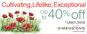 Up to 40% off - Captivating, Lifelike, Exceptional: Dimensions Needlecrafts