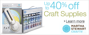 Up to 40% off Supplies to Make Your Project Original with Martha Stewart Crafts