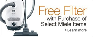 Free Filter with Purchase of Select Miele Vacuums