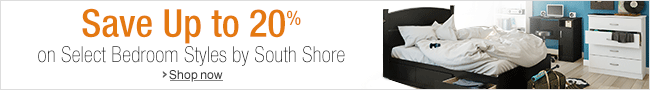 Up to 20% Off Select Bedroom Styles by South Shore