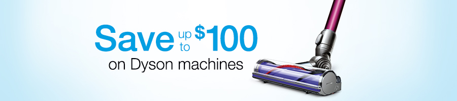 Save up to $100 on Dyson Technology