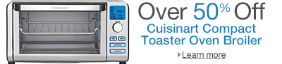 Over 50% off the Cuisinart TOB-100 Compact Toaster Oven Broiler