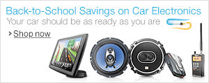 Back to School Savings on Car Electronics