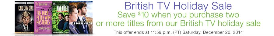 British TV Buy 2 save $10