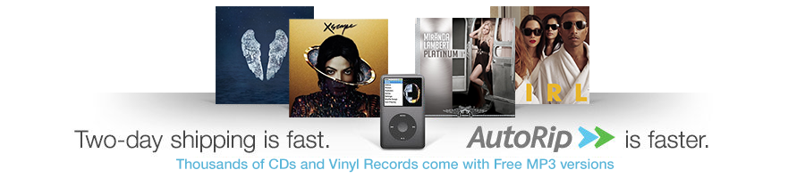 Amazon AutoRip CDs and vinyl