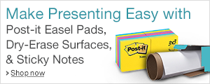 Make Presenting Easy with Post-it Easel Pads, Dry-Erase Surfaces & Sticky Notes