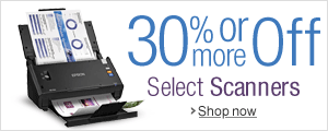 30% Off or More on Scanners
