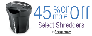 45% Off or More on Shredders
