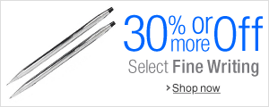 30% Off or More on Fine Writing