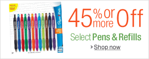 45% Off or More on Pens & Refills