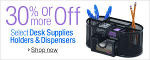 30% Off or More on Desk Supplies Holders & Dispensers