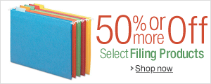 50% Off or More on Filing Products