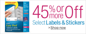 45% Off or More on Labels & Stickers