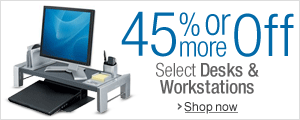 45% Off or More on Desks & Workstations
