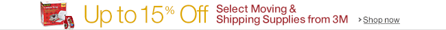 Up to 15% Off Select Moving & Shipping Supplies from 3M