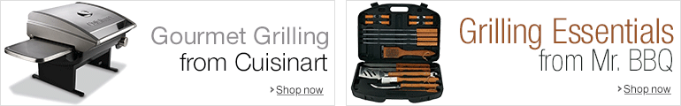 Shop Cuisinart Grills or Mr. BBQ Grilling Utensils
