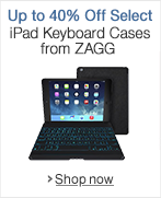 Save up to 40% on Top Selling iPad Keyboard Cases from Zagg
