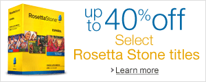 Save up to 40% on select Rosetta Stone titles