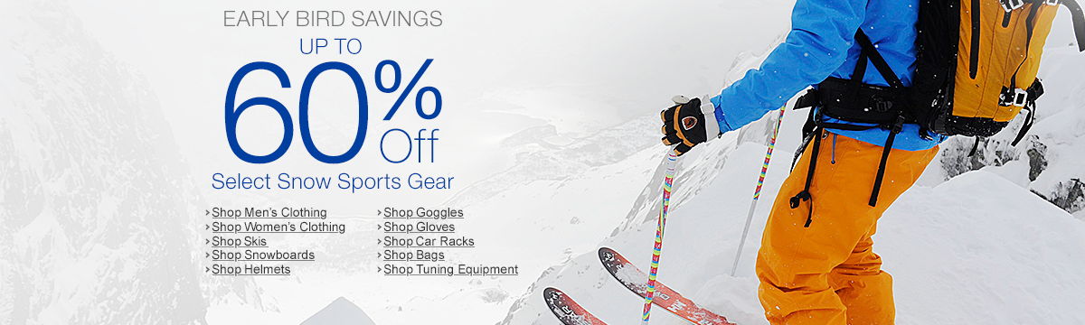 Up to 60% Off Select Snow Sports Gear