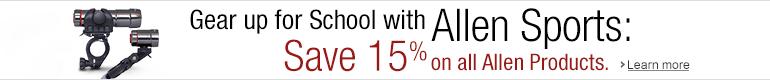15% Off Allen Sports