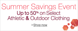 Summer Savings in Athletic & Outdoors Clothing