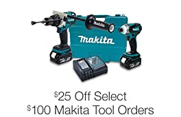 $25 Off Select $100 Makita Tool Orders