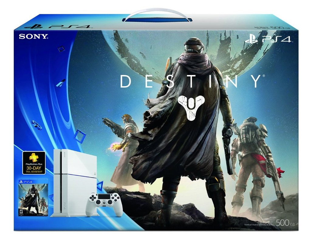 new sony playstation 4 500gb destiny bundle white glacier. Black Bedroom Furniture Sets. Home Design Ideas