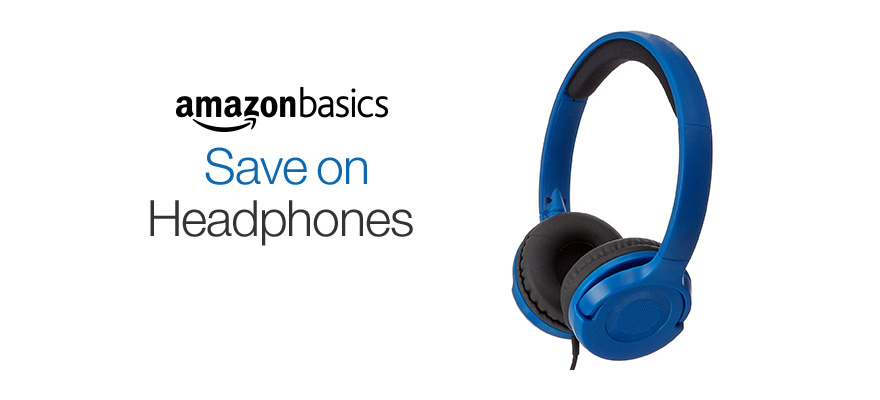 Lightweight On-Ear Headphones from AmazonBasics