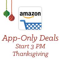 App-Only Deals Start 3pm Thanksgiving