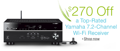 $270 Off the Yamaha RX-V677 Wi-Fi Receiver