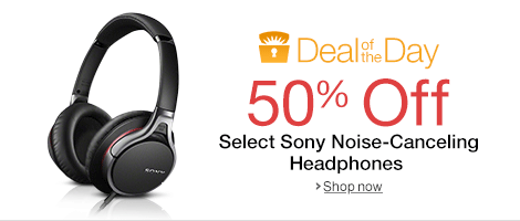 Today Only, 50% Off Select Sony Premium Noise Canceling Headphones