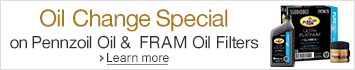 Oil Change Special on Pennzoil Oil & FRAM Oil Filters