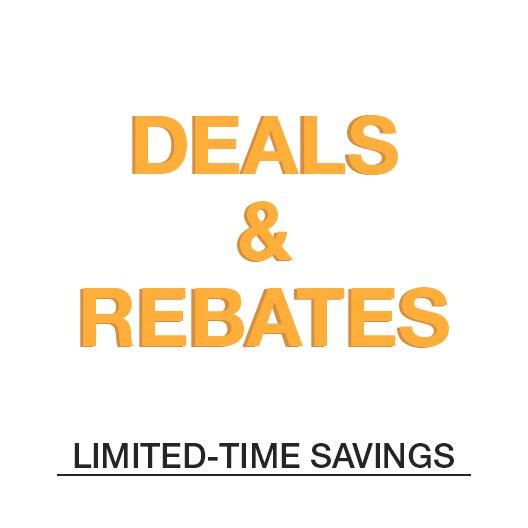 Deals & Rebates LIMITED-Time Savings