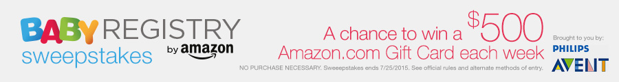 2014 Amazon Baby Registry Sweepstakes Brought to You by AVENT