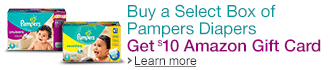 Buy Pampers, Get $10 Gift Card