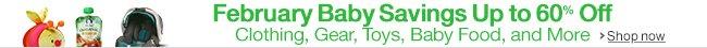 February Baby Savings