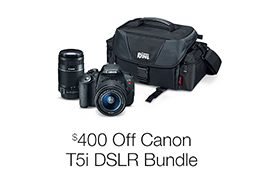 $400 Off the Canon T5i DSLR Bundle