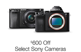 Up to $600 Off Select Sony Mirrorless Interchangeable-Lens Cameras